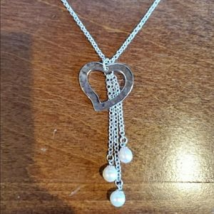 ‼️AUTHENTIC‼️Vantel Pearls 3 of Hearts Nec…